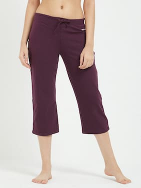 Fruit Of The Loom Women Solid Shorts - Purple