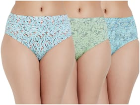 Fruit Of The Loom Pack Of 3 Printed Mid Waist Hipster Panty - Multi