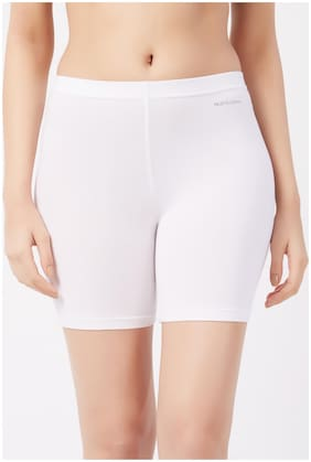Fruit Of The Loom Pack Of 1 Solid High Waist Boyshorts - White