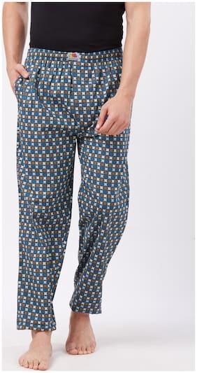 Fruit Of The Loom Men Cotton Printed Pyjama - Grey