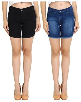 FUEGO Fashion Wear Combo of Shorts For Women's-Pack of 2