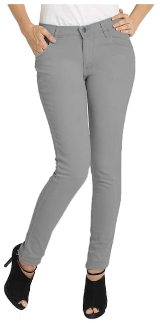 Fashion Stylish For Wear And Socks Fuego Women Jeans Grey P4gqd
