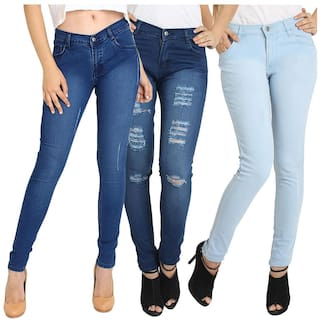 Pack Jeans 3 Fashion Women's Combo 3 of Lycra Fuego of Wear aSn07A78