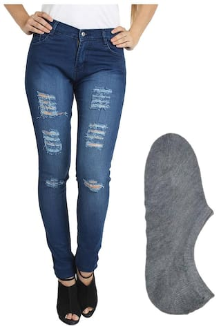Women For Fuego Socks Fashion Blue Wear And Jeans Stylish zU0Z8vqUw
