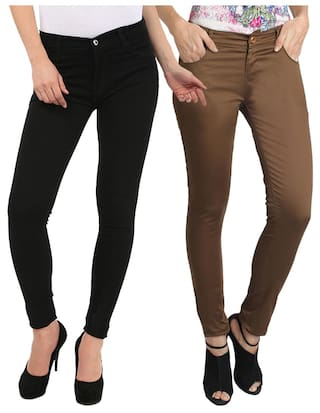 Fuego Fashion Wear Combo Of Jeans And Trouser For Women-pack Of 2
