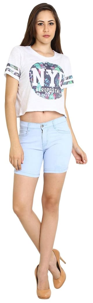 Fashion Wear Blue Light Fuego Shorts For Women's qwz7OOdx