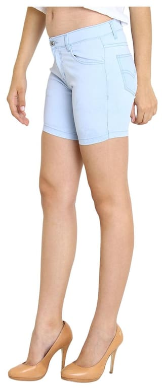 Fashion Light Wear Fuego For Shorts Blue Women's aqEwqdrHx