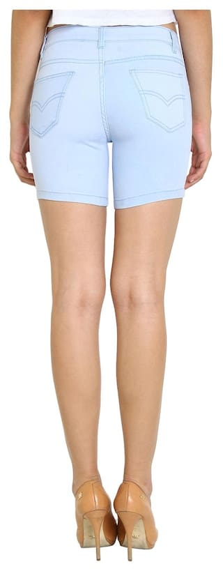 Wear For Shorts Blue Fuego Fashion Women's Light zqI5X