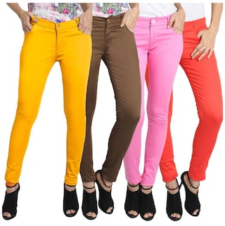 Fuego Fashion Wear Multicolour Trouser For Women-pack Of 4