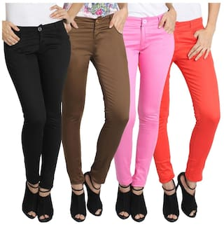 For Trouser pack Fuego Of Women Fashion 4 Multicolour Wear IvvqtHUx