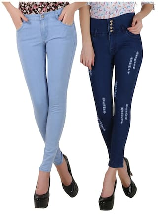 FUEGO FASHION WEAR BLUE JEANS FOR WOMEN-PACK OF 2