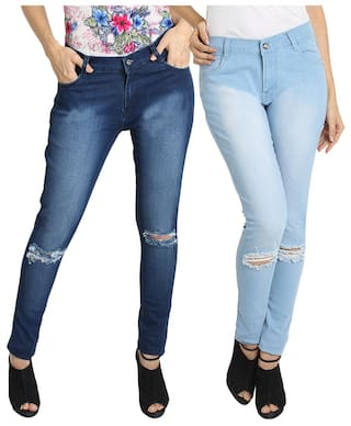 Fuego Fashion Wear Slim Fit Jeans For Women-pack Of 2