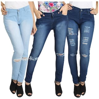 Fashion of Pack Lycra 3 Fuego Jeans Combo Wear of 3 Women's Sxww1qHg