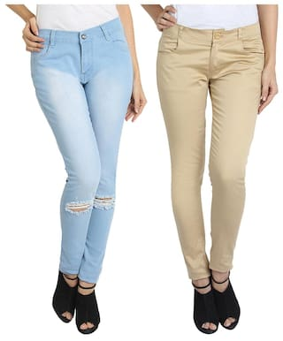Women 2 pack Fuego Wear Of Combo Of Fashion Jeans Trouser And For qS8fFq