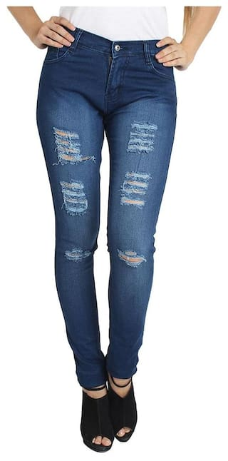 Jeans Pack Women's of Fashion 3 Fuego of 3 Wear Combo Lycra p0ZxpS6wq