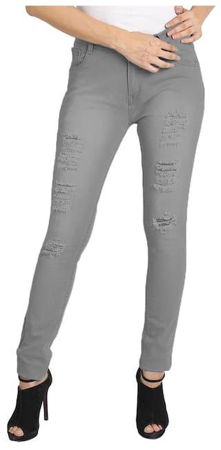 Fuego Fashion Wear Grey Jeans For Women