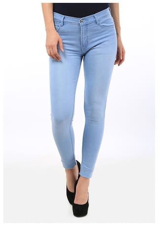 Fuego Fashion Blue For Jeans Women Fit Light Wear Slim rrqwvF