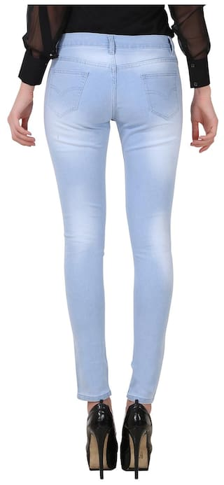 2 Fashion Women of Fuego Women Pack and Wear Black Light Wash Blue Monkey Jeans For 5P6Pp