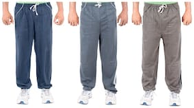 FUNKY GUYS Men Blended Track Pants - Blue
