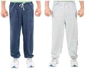 Loose Fit Blended Track Pants Pack Of 2