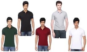 FUNKY GUYS Men Polo neck Sports T-Shirt - Multi