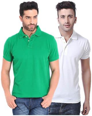 KETEX Men Slim fit Polo neck Solid T-Shirt - Multi