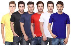 FUNKY GUYS Men Round Neck Sports T-Shirt - Multi