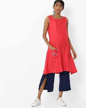 Fusion By Reliance Trends Women Red Kurta
