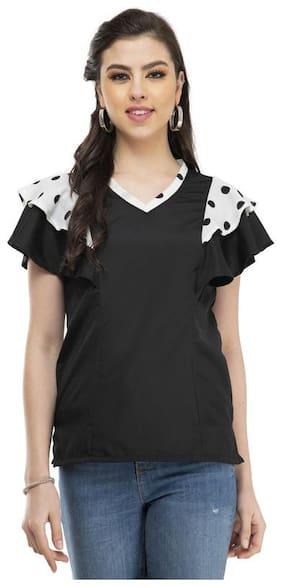 G Fashions Women Solid Regular top - Black