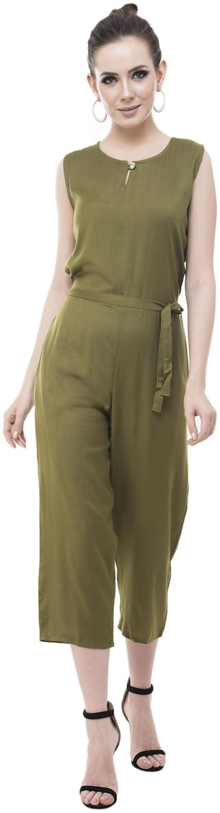 GAFFY Solid Jumpsuit - Green