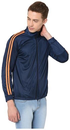 GAG Men Blue Solid Down jacket