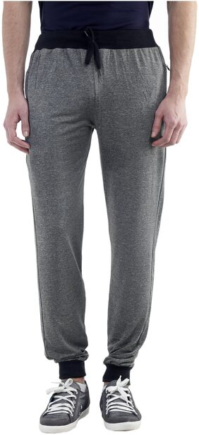 Gag Wears Men Cotton Blend Track Pants - Grey