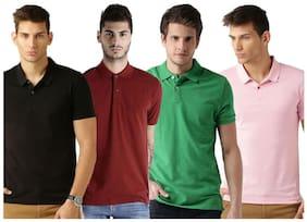 Men Polo Neck Solid T-Shirt