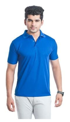 Men Polo Collar Solid T-Shirt ,Pack Of Pack Of 1