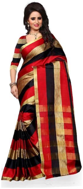 Ganga Shree Self Design Women'S Choice Latest Design Banarsi Silk Saree;New Casual And Wedding Wearing Saree