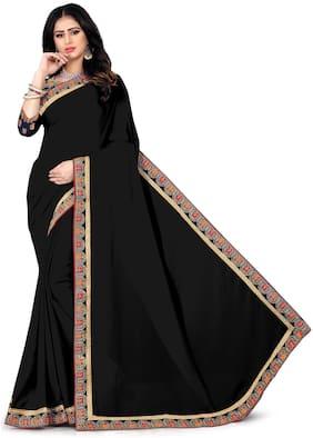 Ganga Shree Women Georgette Saree Black