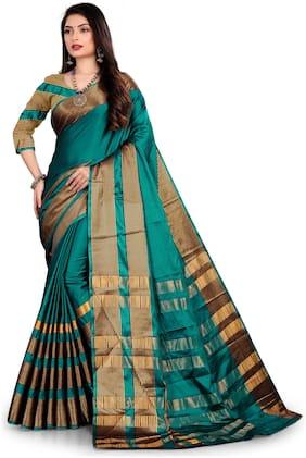 Cotton Banarasi Saree