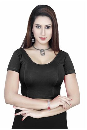 GARGI Black Lycra Stitched Blouse
