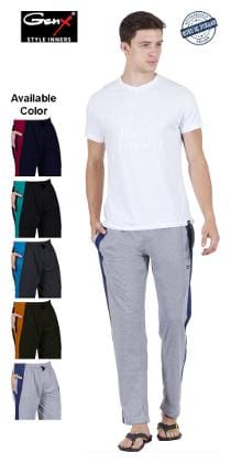 Genx Men Cotton Solid Pyjama - Assorted