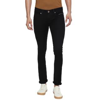 GERICHO LONDON Men Black Slim Fit Jeans