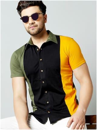 GESPO Men Multi Colorblocked Regular Fit Casual Shirt