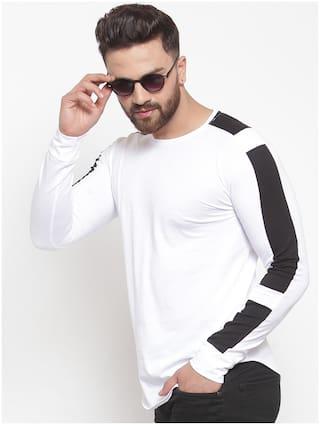 GESPO Men White Regular fit Cotton Blend Round neck T-Shirt - Pack Of 1