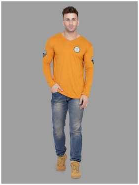 Geum Men Cotton Blend T-Shirt Mustard