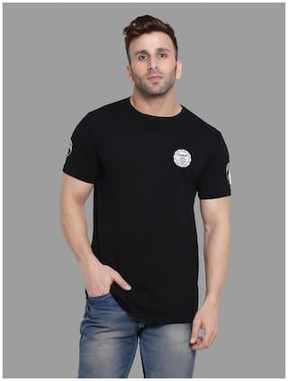 Geum Men Black Slim fit Cotton Blend Round neck T-Shirt - Pack Of 1