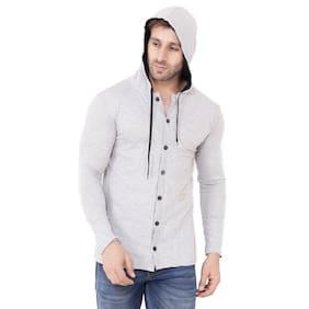 Geum Men Grey Regular fit Cotton Hood T-Shirt - Pack Of 1
