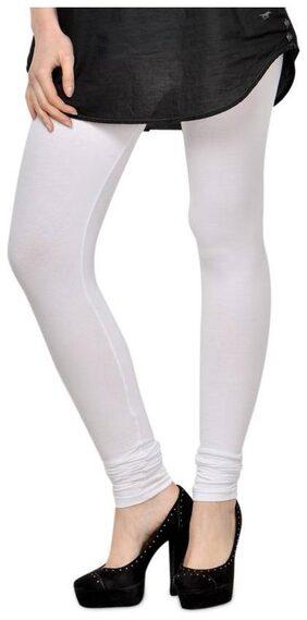 GLAM16 WOMENS COTTON LYCRA WHITE LEGGINGS(KJAGGS-13)