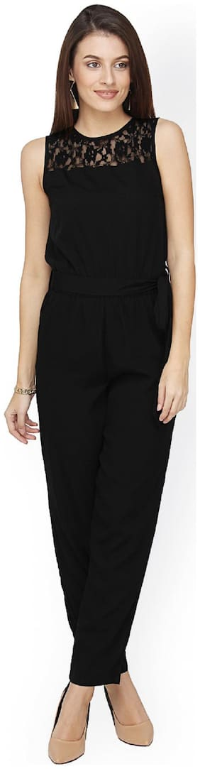 Glampunch Solid Jumpsuit - Black