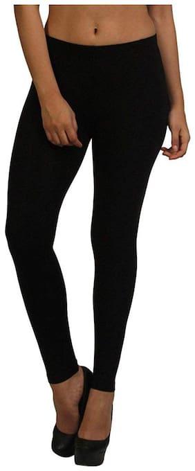 Global Cotton Cotton Leggings - Black