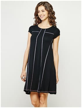 Global Desi A-line Black Tunic