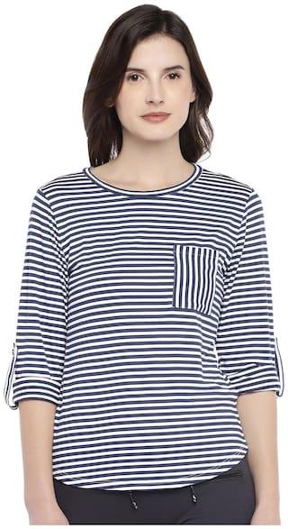 Globus Women Striped Regular top - Black & White